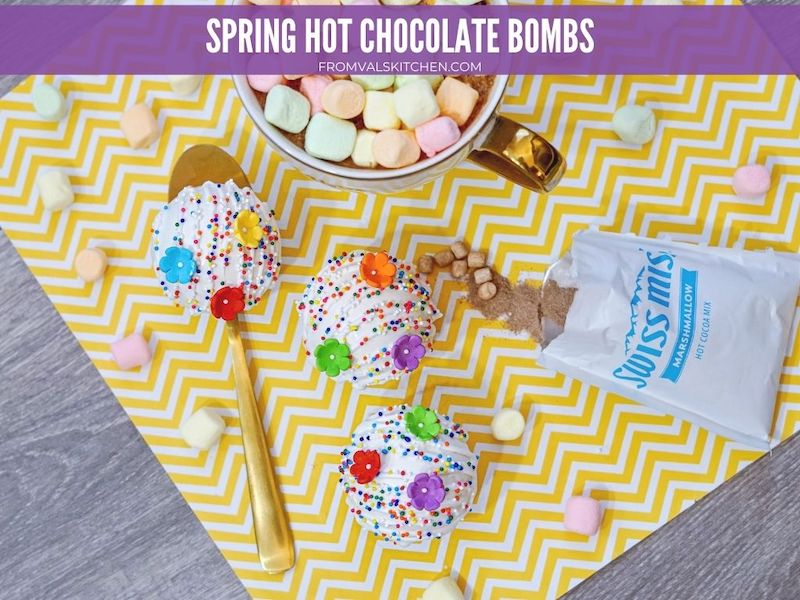 Spring Hot Chocolate Bombs