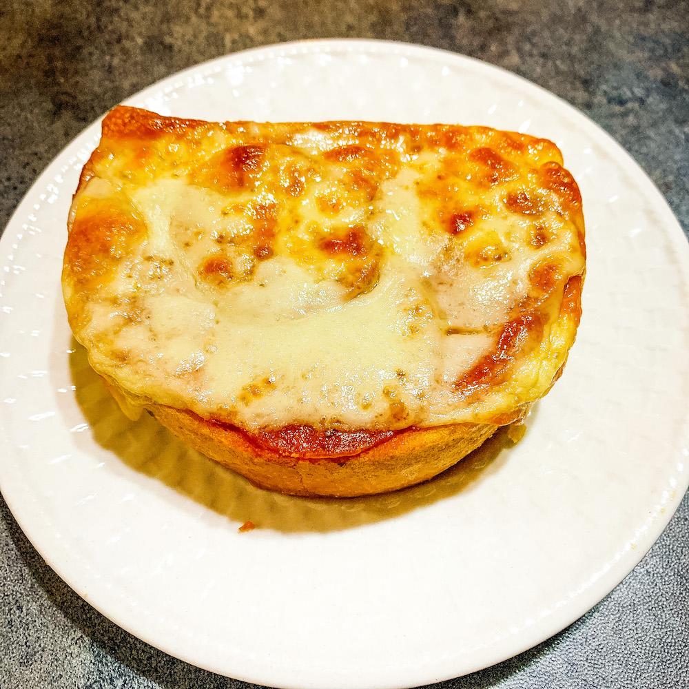 Air Fryer Garlic Toast Pizza