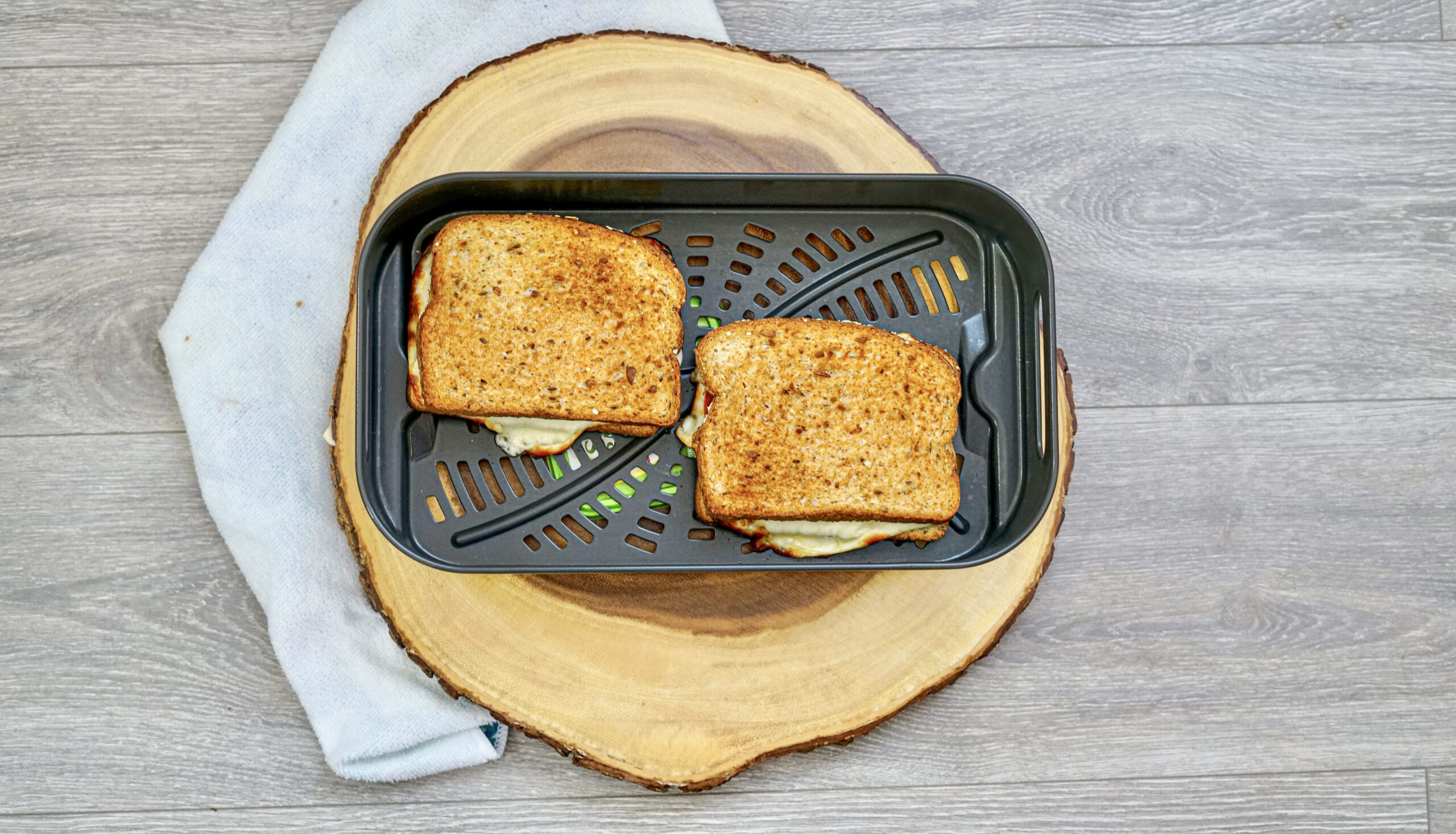 Air Fryer Pepperoni Pizza Grilled Cheese Recipe From Val's Kitchen