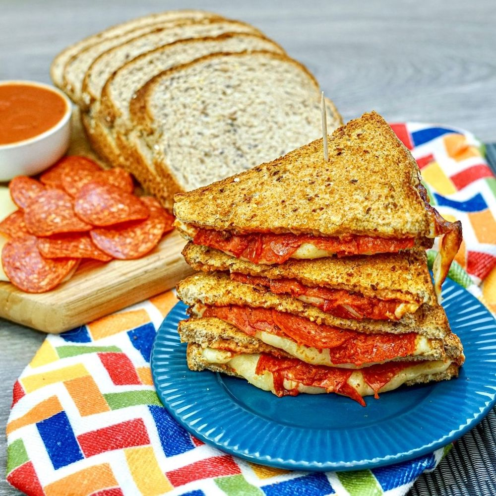 Air Fryer Pepperoni Pizza Grilled Cheese