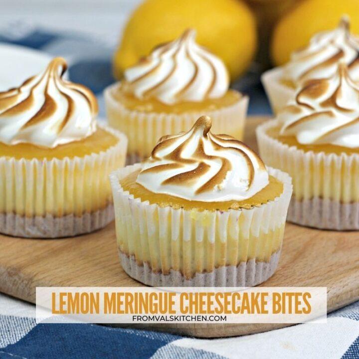 Lemon Meringue Cheesecake Bites