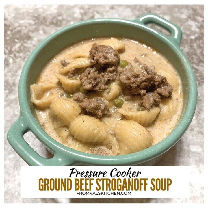 Pressure Cooker Ground Beef Stroganoff Soup