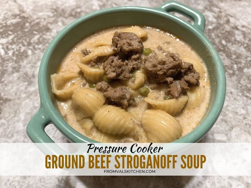 Pressure Cooker Ground Beef Stroganoff Soup Recipe From Val's Kitchen