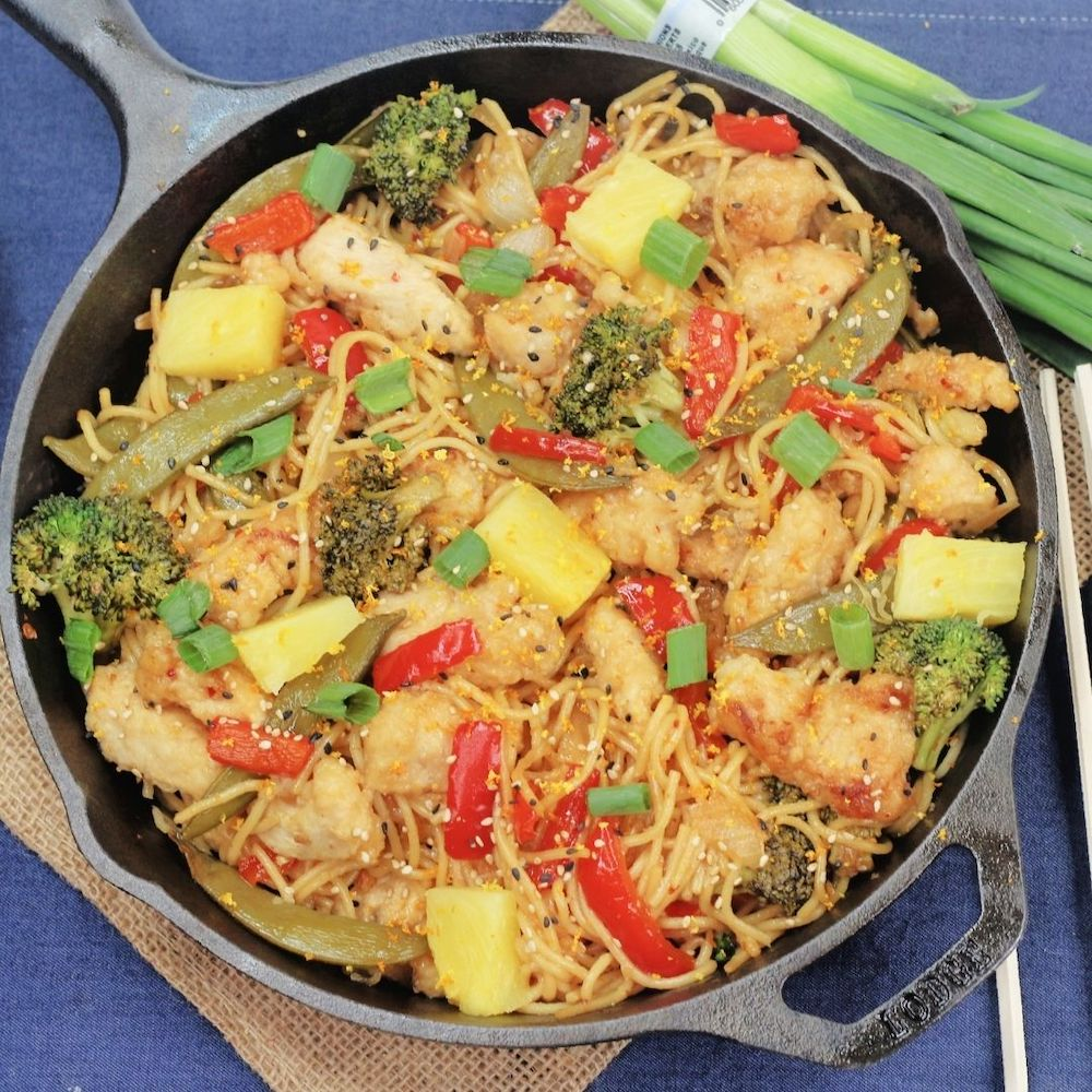 Sweet and Sour Chicken Lo Mein Recipe From Val's Kitchen