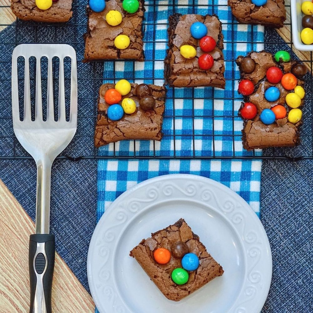 M&M Brownies Recipe From Val's Kitchen