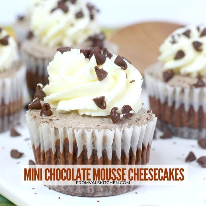 Mini Chocolate Mousse Cheesecakes