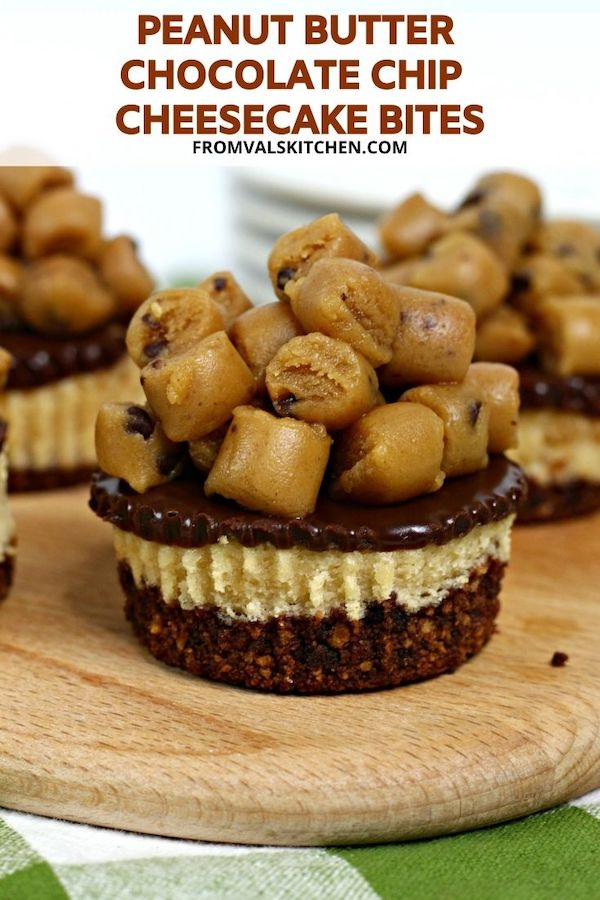 Peanut Butter Chocolate Chip Cheesecake Bites Recipe From Val's Kitchen