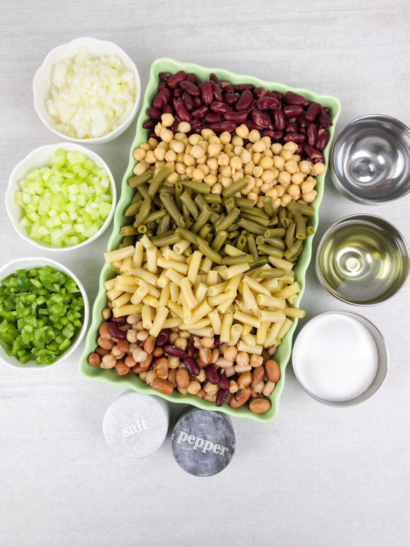 Easy Mixed Bean Salad Recipe From Val's Kitchen