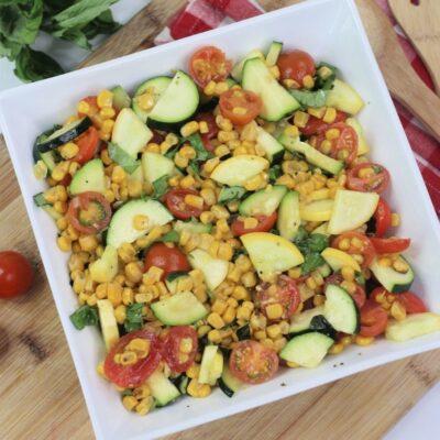 Easy Zucchini Corn and Tomato Salad