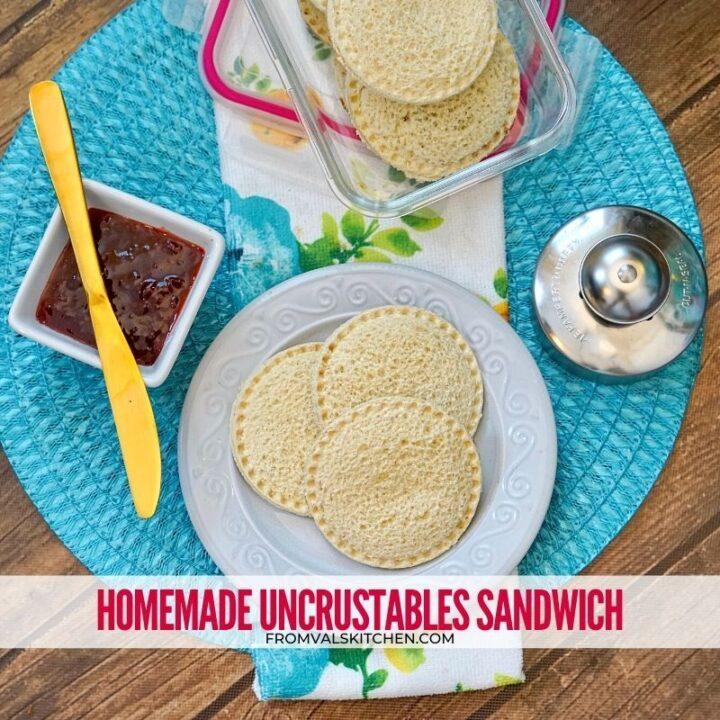 Homemade Uncrustables Sandwich