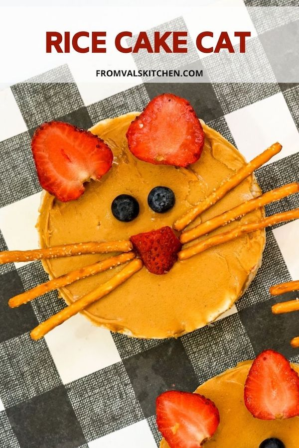 How To Make A Rice Cake Cat From Val's Kitchen