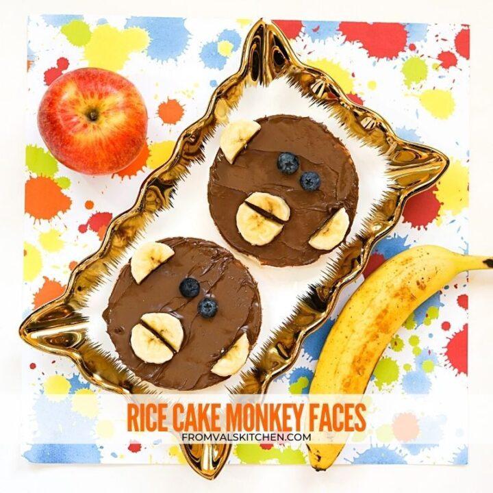 Rice Cake Monkey Faces