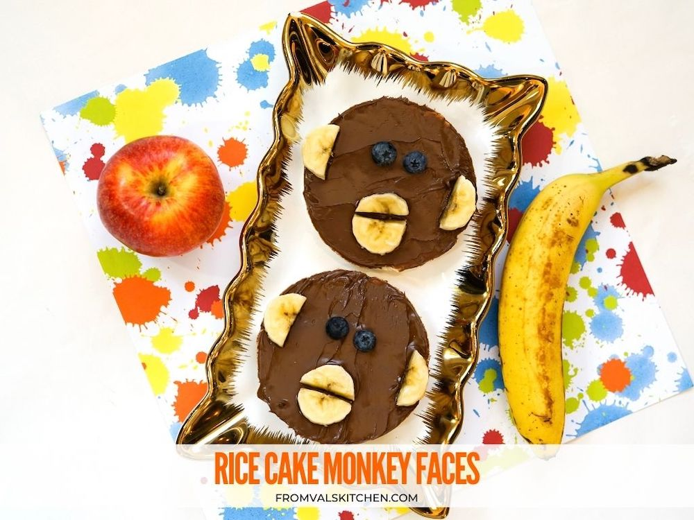 Rice Cake Monkey Faces From Val's Kitchen